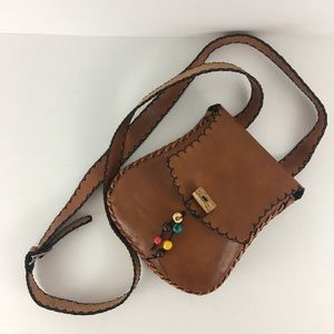 Vintage Mini Crossbody bag Columbia leather cognac